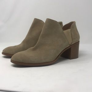 Zara basic collection suede boooties
